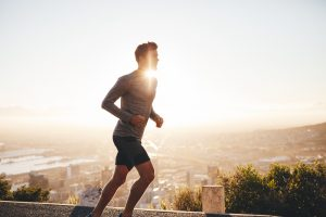 man with more energy running in the morning