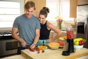 couple preparing paleo food
