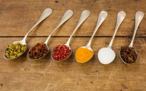 natural herbs and spices, cranberry, turmeric, anise