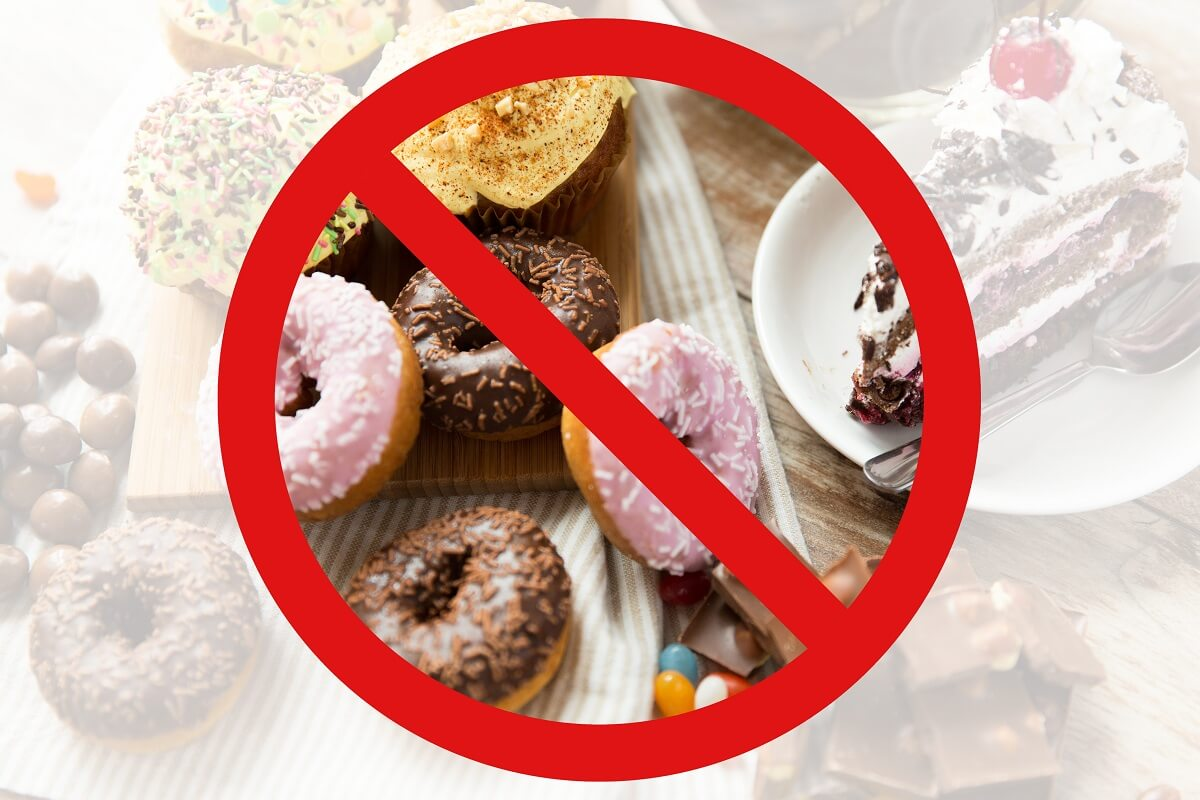 bad carbs, no to sweets, sugary treats, cake