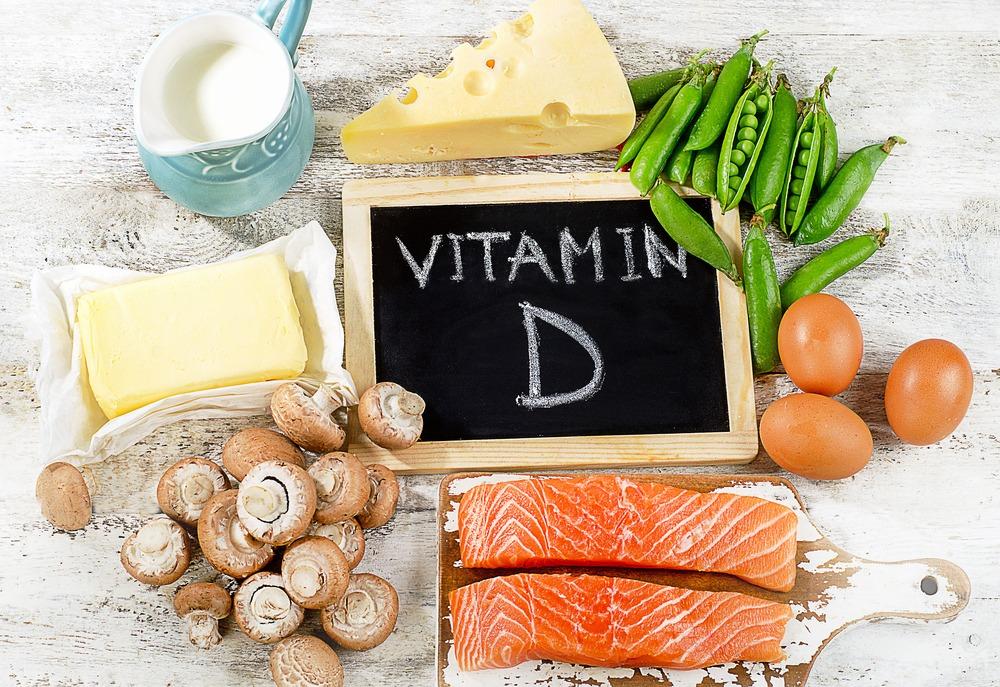 Vitamin D Salmon, egg, mushroom, milk