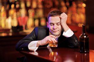 drunk in a bar