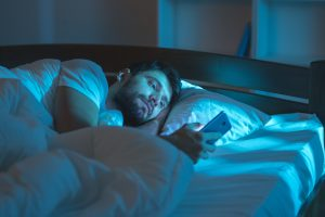 mobile phone use late at night