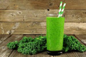 fresh kale smoothie