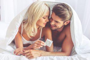 safe sex with condom